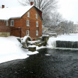 Stock Photo: Winter water mill