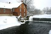 Winter water mill — Stock Photo