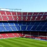 Seating in soccer stadium — Stock Photo