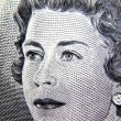 Canadian dollar Queen - Stock Photo