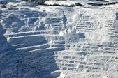 Snow covered mining steps — Stock Photo