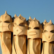 Stock Photo: Gaudi chimneys