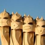 Gaudi chimneys — Stock Photo