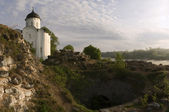 St. George's Church in the Ladoga Fortress. — Stock Photo