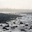 River flowing on rocks. — Stock Photo