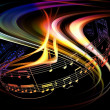 Stock Photo: Dynamic Music Abstract