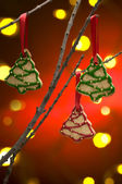 Christmas cookies as tree decoration — Stock Photo