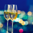 Champaign glasses in front of window — Stock Photo #4601293