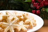Decorated star shape christmas cookies — Stock Photo