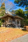 Zen building in a garden at a sunny morning — Stock Photo
