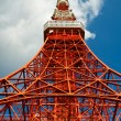 Royalty-Free Stock Photo: Tokyo tower face cloudy sky