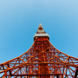 Royalty-Free Stock Photo: Tokyo tower faces blue sky