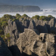 Punakaiki pancake rock, New Zealand - Stock Photo