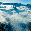 Stock Photo: Upper level of Fox Glacier in New Zealand