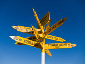 Signpost in Sterling point Bluff — Stock Photo