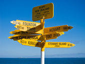 Sign post in Sterling point Bluff — Stock Photo