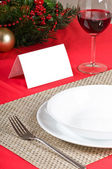 Simple and flawless Christmas table setting — Stock Photo