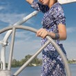 Stock Photo: Sailing woman