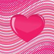 Stock Vector: Pink glass heart