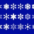 Vector snowflakes set — Stock Vector #4155655