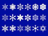 ベクトルの雪片を設定 — ストックベクタ