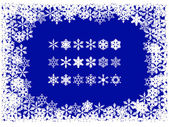 Christmas snowflake frame — Stock Vector
