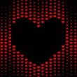 Stock Photo: Dark Hearts background