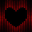 Dark Hearts background — Stock Photo