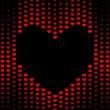 Dark Hearts background — Stock Photo