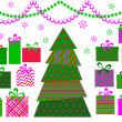 Royalty-Free Stock Photo: Abstract christmas tree with gifts