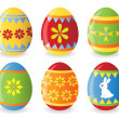 Royalty-Free Stock Photo: Vextor easter eggs