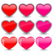 Hearts icon set — Stock Photo #5128789