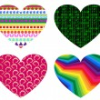 Hearts icon set — Stock Photo