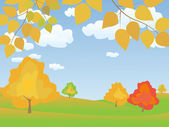 Vector autumn landscape — Stock Photo