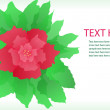 Vector flower background — Stok fotoğraf