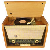 Vintage radio-gramophone — Stock Photo