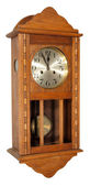 Vintage wall clock showing five to twelve — Stok fotoğraf
