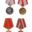Stock Photo: Soviet military commemorative medals.