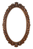 Old oval bronze frame — Stock Photo