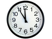 Wall clock isolated over white — Stock Photo