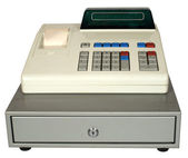 Cash register on a white background. — Stock Photo