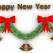 3d Happy New Year decoration — Stock Photo