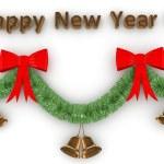 3d Happy New Year decoration — Stock Photo