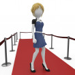 3d  girl posing on the red carpet — Stock Photo