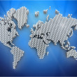 Foto Stock: 3d world map rendering
