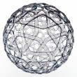 3d decorative glass sphere — Stock Photo