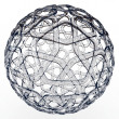 3d decorative glass sphere — Stock Photo #4377543