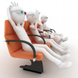 3d man watching 3d movie — Stock Photo