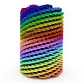 3d abstrakt verdrehte zylinder — Stockfoto