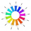 3d color wheel with rollers - ストック写真